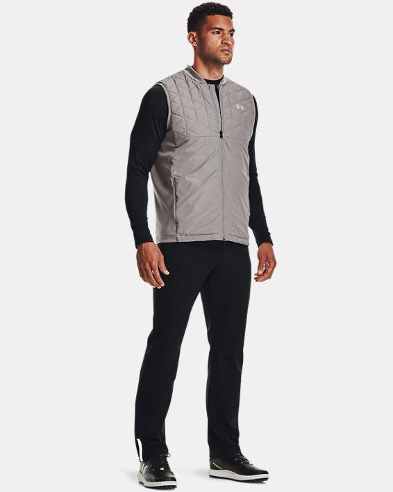 Men's ColdGear® Infrared Long Sleeve Golf Mock, Black, pdpMainDesktop image number 2