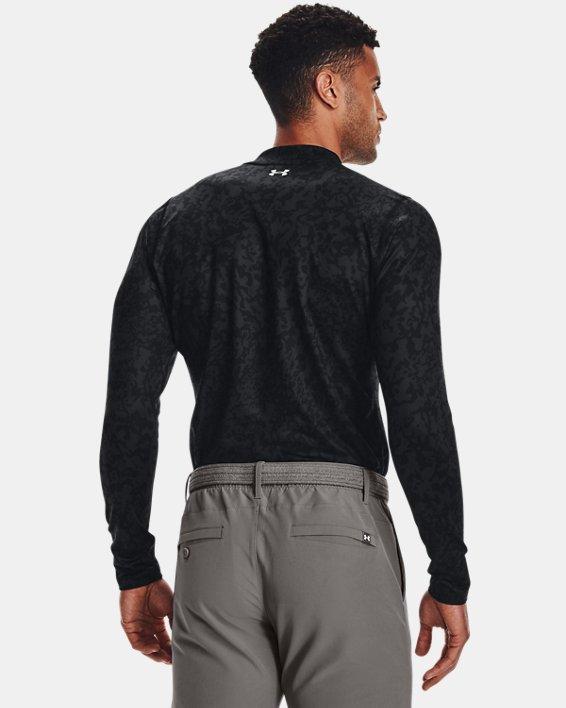 Men's ColdGear® Infrared Printed Long Sleeve Golf Mock, Gray, pdpMainDesktop image number 1