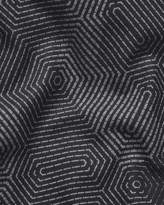 Men's ColdGear® Infrared Printed Long Sleeve Golf Mock, Gray, pdpMainDesktop image number 4
