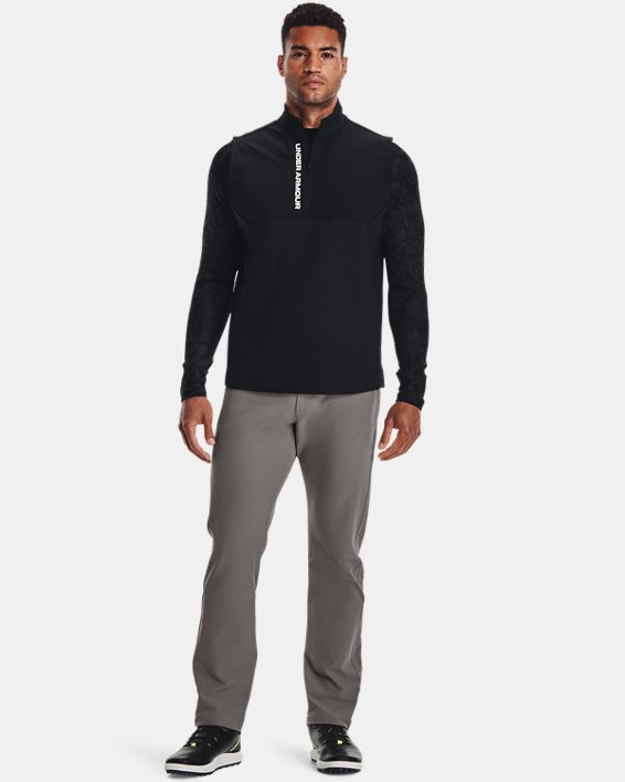 Men's ColdGear® Infrared Printed Long Sleeve Golf Mock, Gray, pdpMainDesktop image number 2