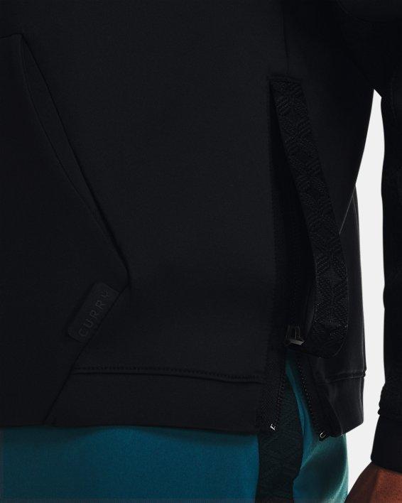 Men's Curry Hooded Track Jacket, Black, pdpMainDesktop image number 4