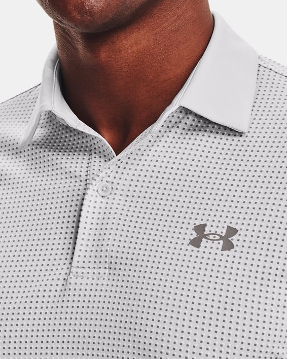 Men's UA T2G Printed Polo, Gray, pdpMainDesktop image number 5