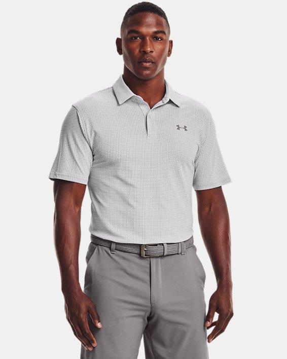 Men's UA T2G Printed Polo, Gray, pdpMainDesktop image number 1