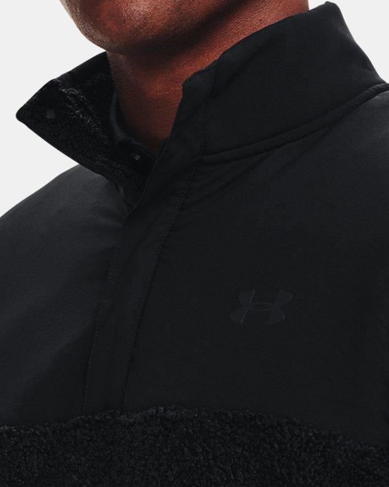 Pullover UA SweaterFleece Pile da uomo, Black, pdpMainDesktop image number 3
