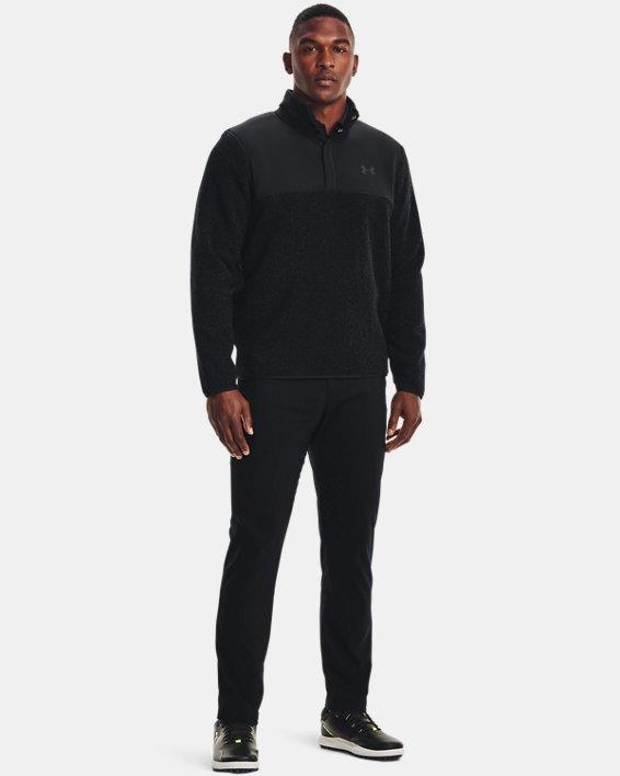 Pullover UA SweaterFleece Pile da uomo, Black, pdpMainDesktop image number 2