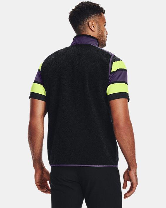 Men's UA SweaterFleece Pile Vest, Black, pdpMainDesktop image number 1