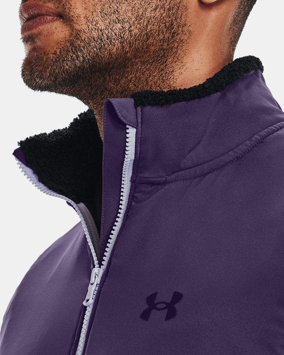 Men's UA SweaterFleece Pile Vest, Black, pdpMainDesktop image number 3