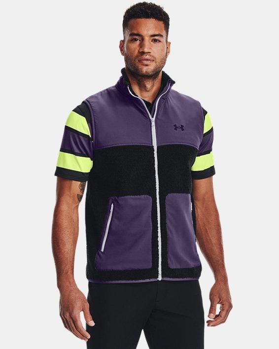 Men's UA SweaterFleece Pile Vest, Black, pdpMainDesktop image number 0