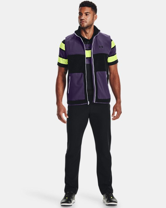 Men's UA SweaterFleece Pile Vest, Black, pdpMainDesktop image number 2