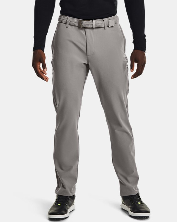 Men's ColdGear® Infrared Tapered Pants, Gray, pdpMainDesktop image number 0