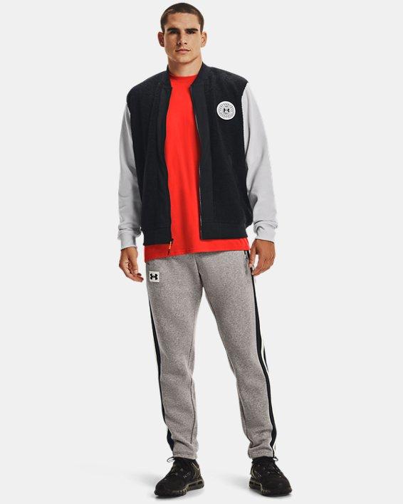 Men's UA Rival Fleece Alma Mater Bomber Jacket, Black, pdpMainDesktop image number 2
