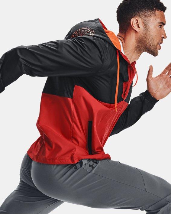 Men's UA Woven Alma Mater Anorak Jacket, Orange, pdpMainDesktop image number 0