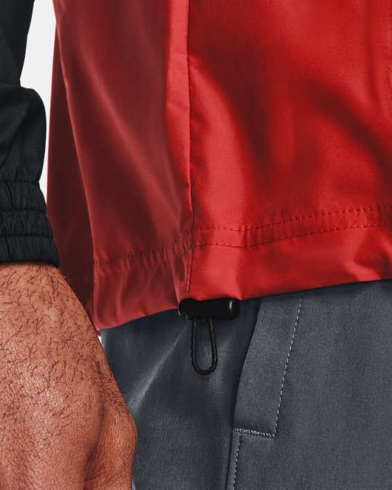 Men's UA Woven Alma Mater Anorak Jacket, Orange, pdpMainDesktop image number 5