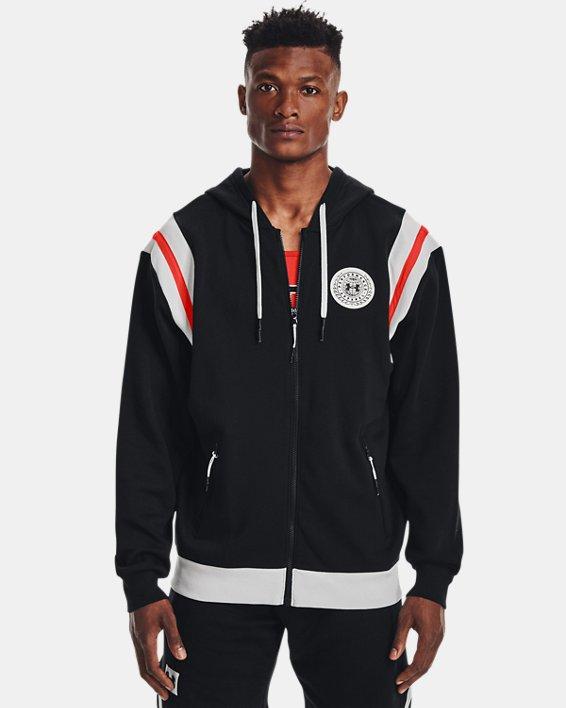 Men's UA Rival Fleece Alma Mater Full-Zip Hoodie, Black, pdpMainDesktop image number 1