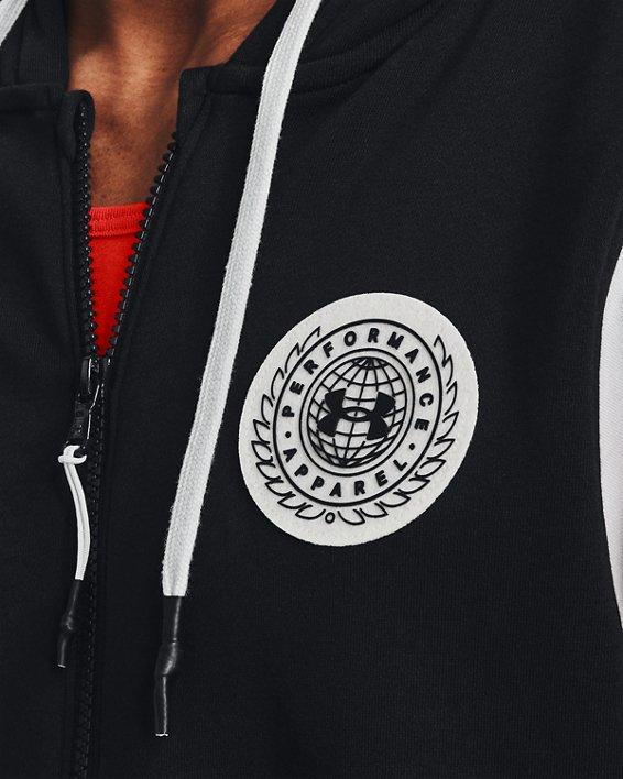 Men's UA Rival Fleece Alma Mater Full-Zip Hoodie, Black, pdpMainDesktop image number 3