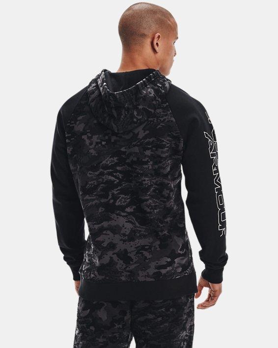 Men's UA Rival Fleece Camo Script Hoodie, Black, pdpMainDesktop image number 2