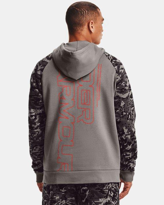 Men's UA Rival Fleece Camo Script Full-Zip, Gray, pdpMainDesktop image number 2