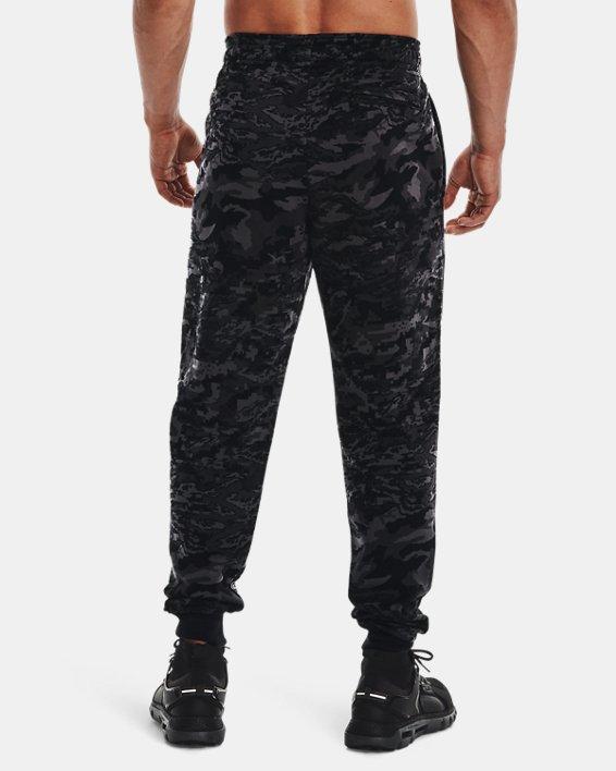Men's UA Rival Fleece Camo Script Joggers, Black, pdpMainDesktop image number 2