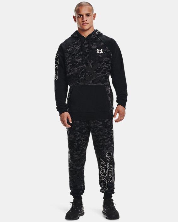 Men's UA Rival Fleece Camo Script Joggers, Black, pdpMainDesktop image number 0