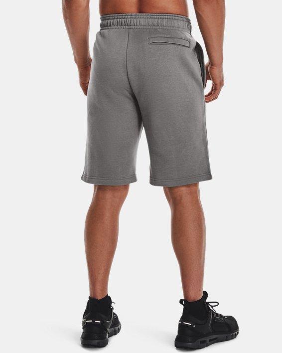 Men's UA Rival Fleece Camo Script Shorts, Gray, pdpMainDesktop image number 2