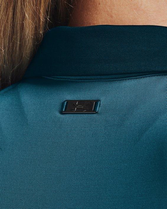 Polo UA Zinger Sleeve Stripe para mujer, Blue, pdpMainDesktop image number 6