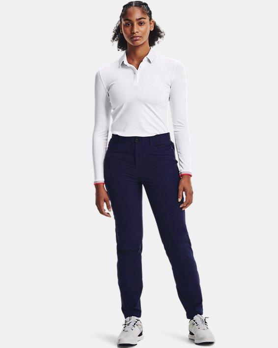 Women's UA Zinger Long Sleeve Polo, White, pdpMainDesktop image number 0