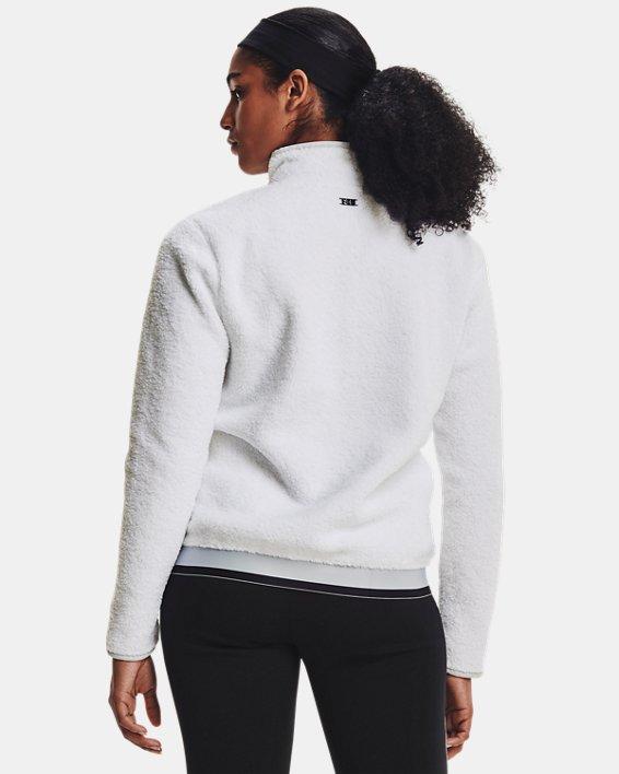 Women's UA Pile ½ Zip, White, pdpMainDesktop image number 1