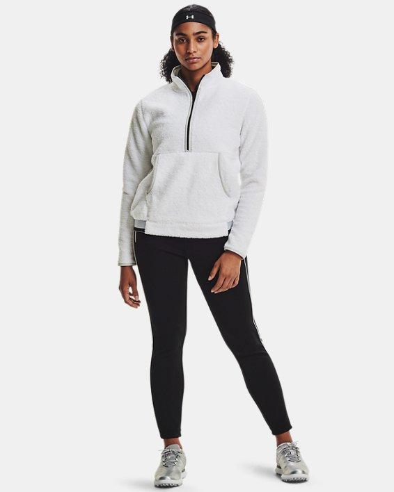 Women's UA Pile ½ Zip, White, pdpMainDesktop image number 2