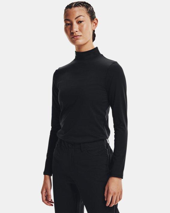 Camiseta de golf de manga larga ColdGear® Infrared Storm para mujer, Black, pdpMainDesktop image number 0