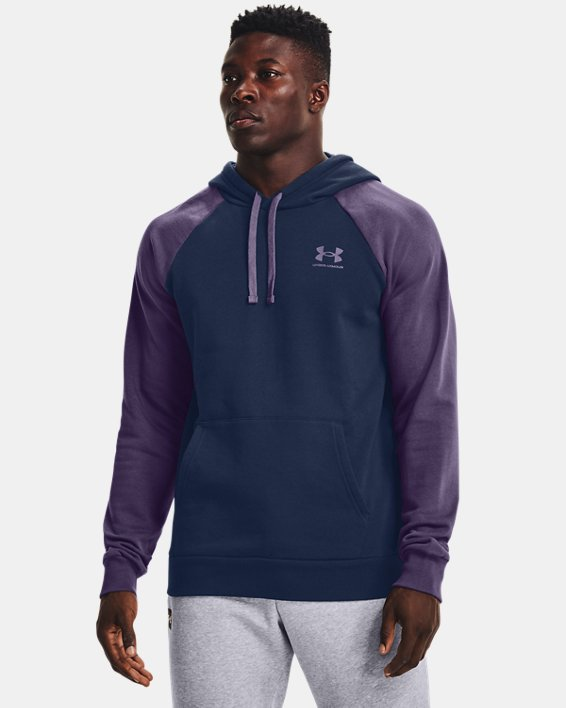 Sweat à capuche UA Rival Fleece Colorblock pour homme