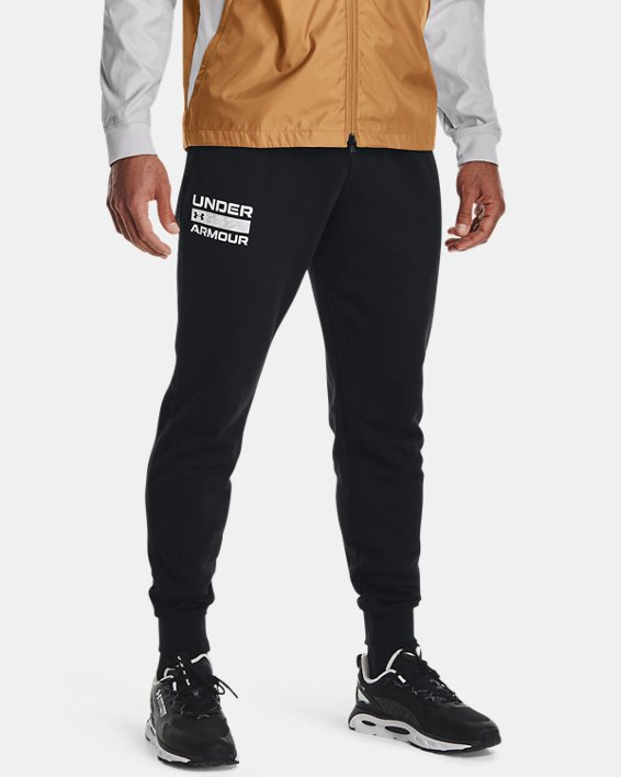 Jogger de tejido Fleece UA Rival Signature para hombre, Black, pdpMainDesktop image number 0