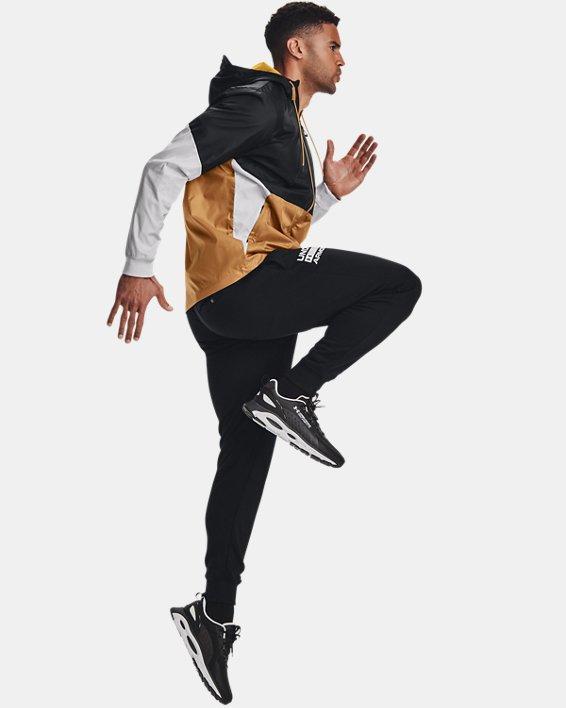 Jogger de tejido Fleece UA Rival Signature para hombre, Black, pdpMainDesktop image number 3