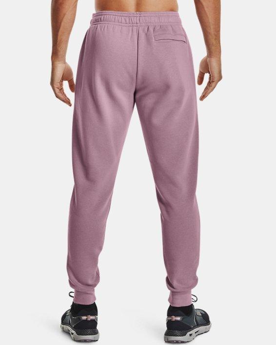 Men's UA Rival Fleece Signature Joggers, Pink, pdpMainDesktop image number 1