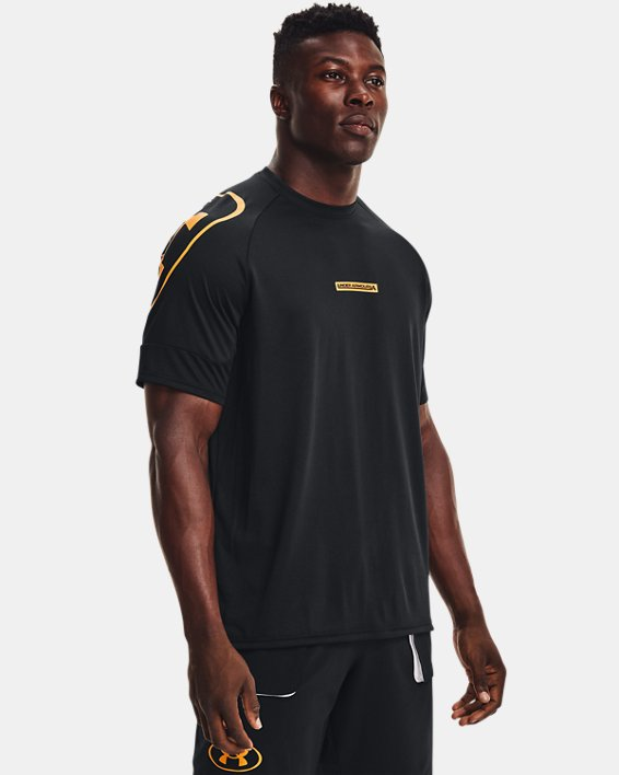 Men's UA Evolution Training Short Sleeve, Black, pdpMainDesktop image number 0