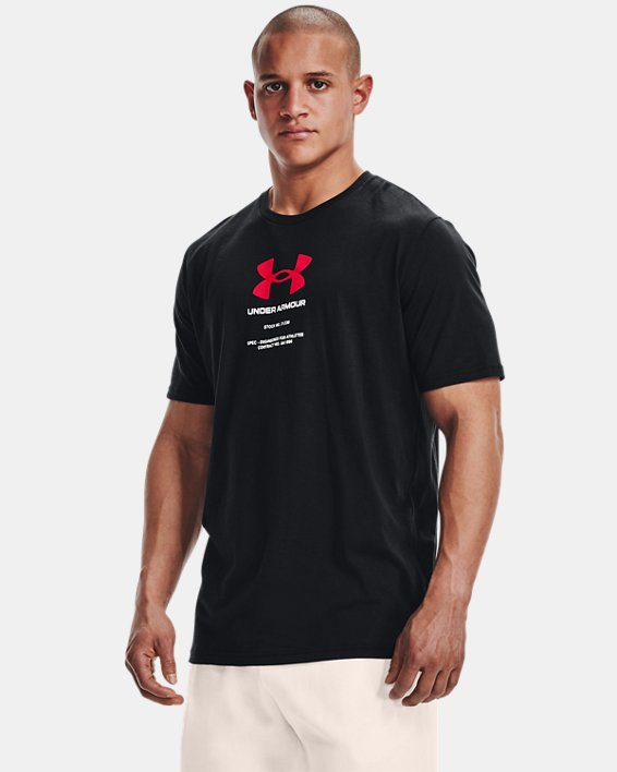 Men's UA Engineered Symbol Short Sleeve, Black, pdpMainDesktop image number 1