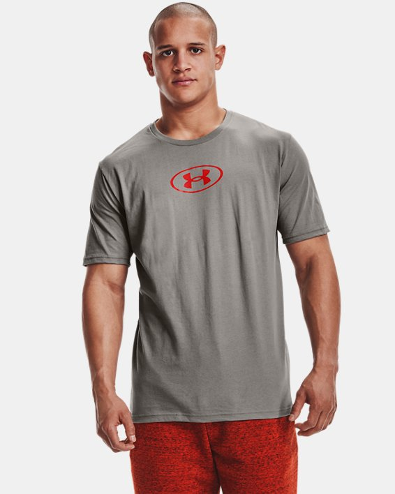 Men's UA Only Way Is Through Short Sleeve, Gray, pdpMainDesktop image number 1