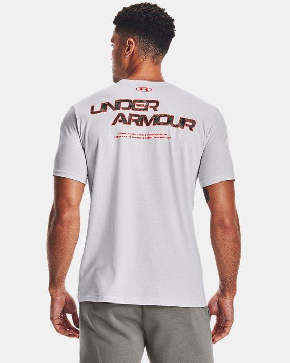 Men's UA ABC Camo Fill Wordmark Short Sleeve, Gray, pdpMainDesktop image number 2