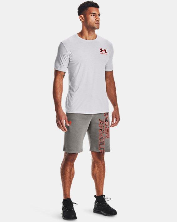 Men's UA ABC Camo Fill Wordmark Short Sleeve, Gray, pdpMainDesktop image number 0