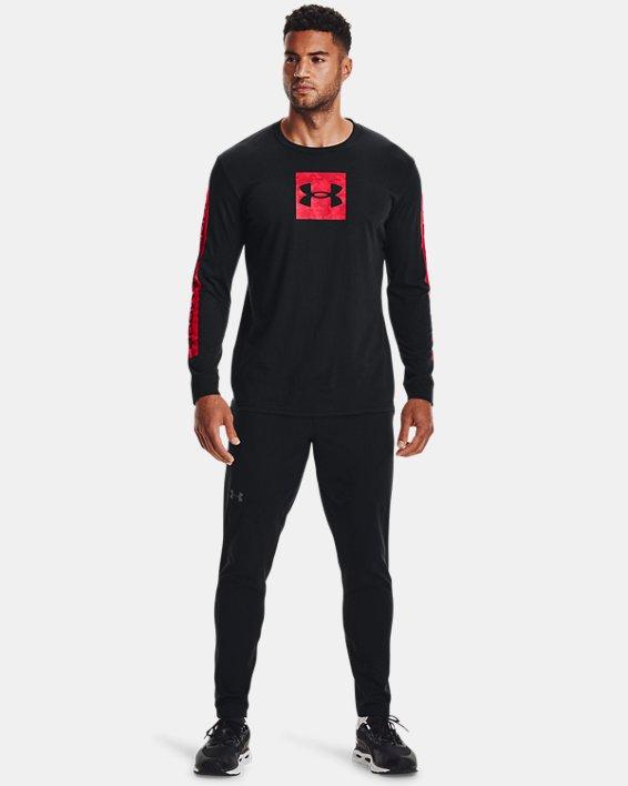 Herren UA Camo Boxed Sportstyle Oberteil, langärmlig, Black, pdpMainDesktop image number 0