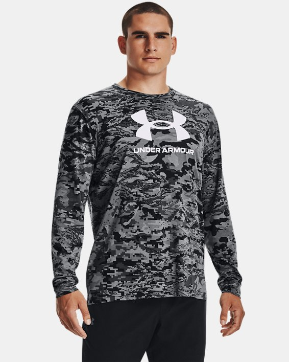 Men's UA ABC Camo Long Sleeve, Black, pdpMainDesktop image number 1