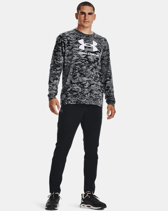 Men's UA ABC Camo Long Sleeve, Black, pdpMainDesktop image number 0