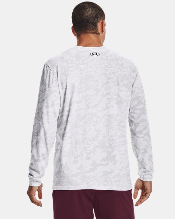 Men's UA ABC Camo Long Sleeve, White, pdpMainDesktop image number 2
