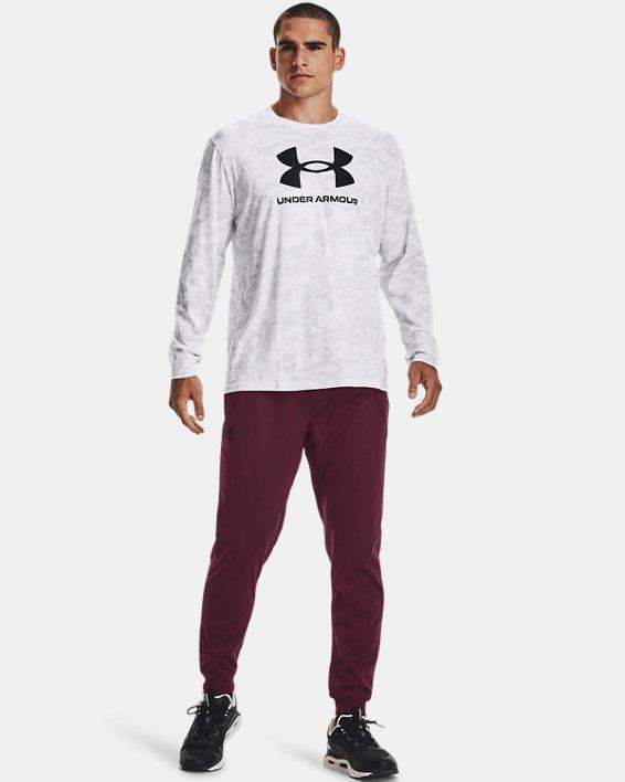 Men's UA ABC Camo Long Sleeve, White, pdpMainDesktop image number 0