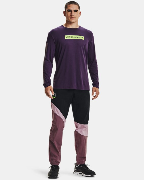 Men's UA 21230 Swerve Long Sleeve, Purple, pdpMainDesktop image number 2