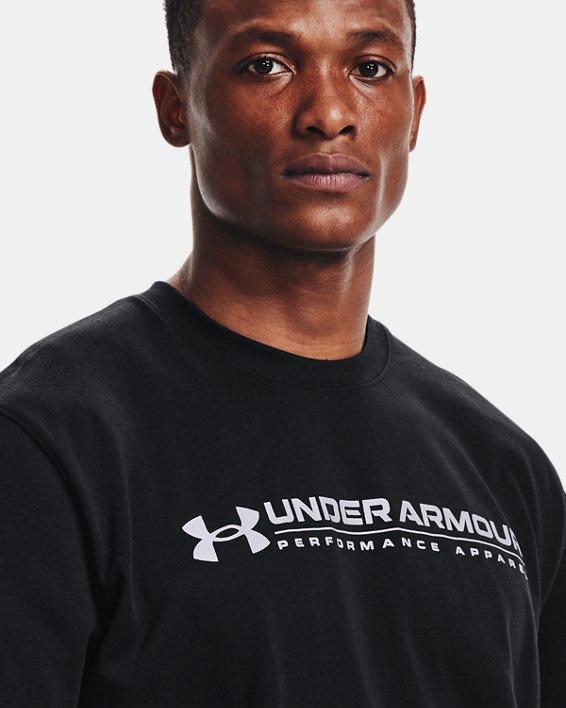 Men's UA Signature Vortex Heavyweight Short Sleeve, Black, pdpMainDesktop image number 4