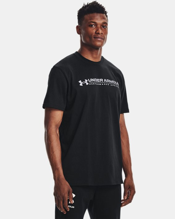 Men's UA Signature Vortex Heavyweight Short Sleeve, Black, pdpMainDesktop image number 1