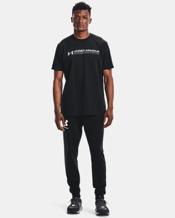 Men's UA Signature Vortex Heavyweight Short Sleeve, Black, pdpMainDesktop image number 0