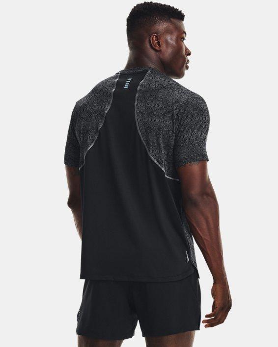 Men's UA Iso-Chill Run 200 Print Short Sleeve, Black, pdpMainDesktop image number 1