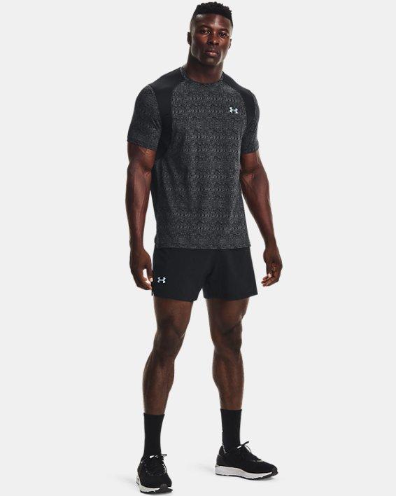 Men's UA Iso-Chill Run 200 Print Short Sleeve, Black, pdpMainDesktop image number 2