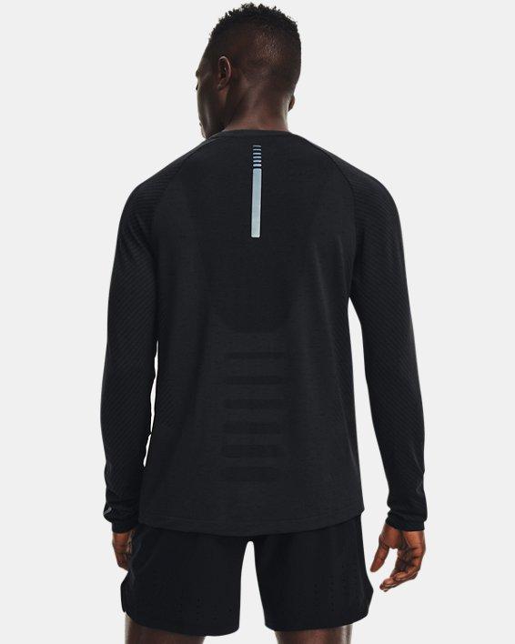 Men's UA Seamless Run Long Sleeve, Black, pdpMainDesktop image number 1